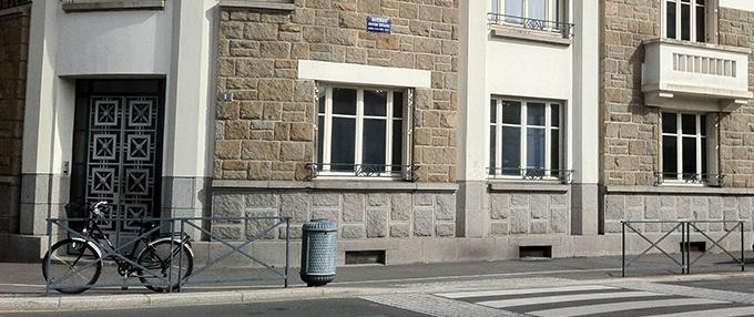 Vue des bureaux de l'extérieur